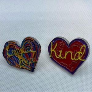 Penzeys spice heart enamel pin bundle